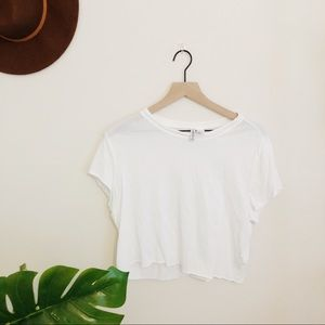 H&M CROPPED TEE!